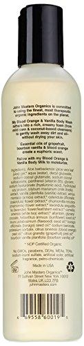 John Master Organics Body Wash, Blood Orange/Vanilla, 8 Fluid Ounce