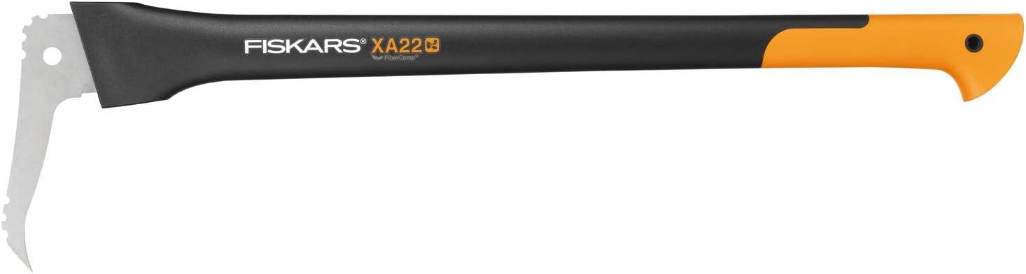 Fiskars Zappino tiratronchi Custodia inclusa Lunghezza: 34,8 cm 1003622 WoodXpert Nero//Arancione XA2 Lama in acciaio temprato//Manico in plastica rinforzata con fibra di vetro