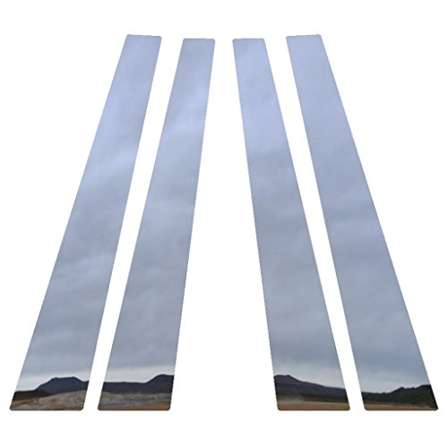 Polished Stainless Pillar Post Trim Cover fits: 2006-2013 Chevy Impala All Models 4 Piece - Ferreus Industries - PIL-015-CR (06 Pillar Post)