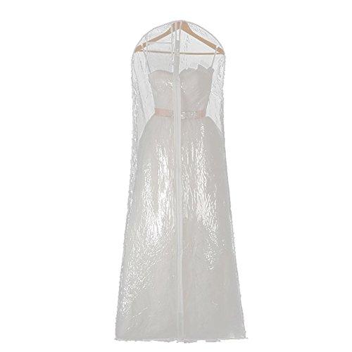 Yunt Garment Bag for Wedding Dress Costume Gown Storage Bags Transparent Dress Bag Anti-dust Waterproof (L: 180 x 80 x 58 cm) by Yunt