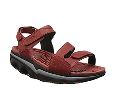 MBT Women's Hanuni 3-Strap Sandal Red Ochre/Black 35