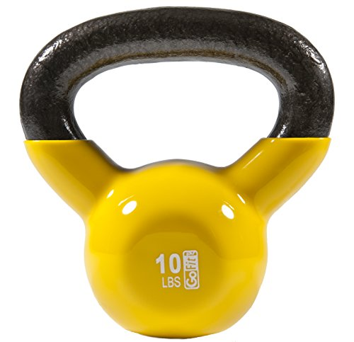 Cheap Premium Vinyl Dipped Kettle Bell With Introductory Training Dvd by GoFit