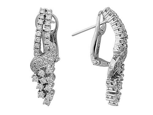 Birgie Diamants et Bijoux - Boucles d'Oreilles Diamants-Femme- or Blanc 201E0020