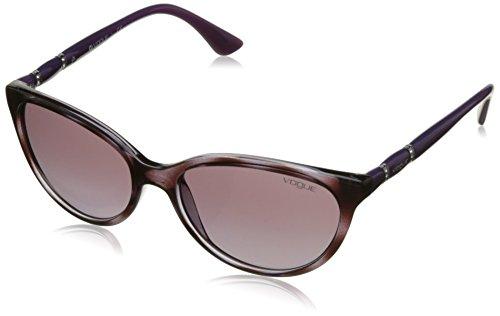 de Unisex Vogue Gafa 235514 Violet Havana Sol Top VO2894SB Adultos Transparent qwtABAUgx
