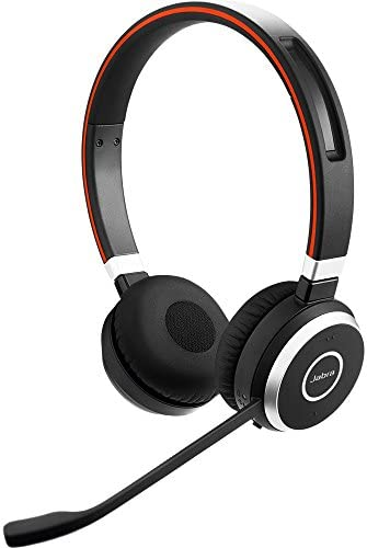 Jabra Evolve 65 UC Stereo Wireless Bluetooth Headset Music Headphones Includes Link 360 U.S. Retail Packaging