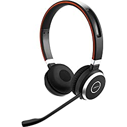 Jabra Evolve 65 UC Stereo Wireless Bluetooth Headset/Music Headphones Includes Link 360 (U.S. Retail Packaging)