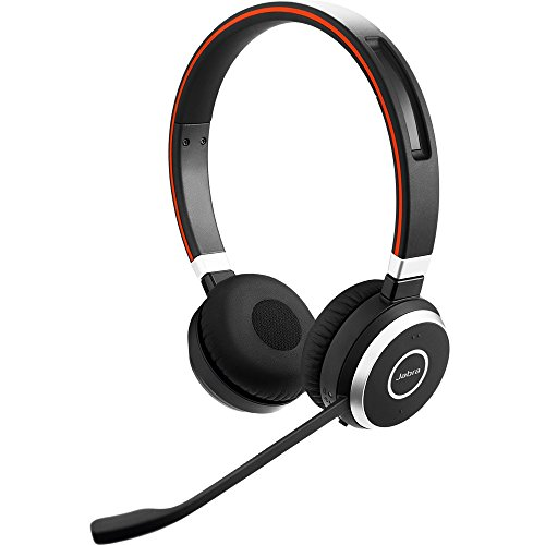 Jabra Evolve 65 MS Wireless Headset, Stereo - Includes Link 370 USB Adapter - Bluetooth Headset with Industry-Leading Wireless Performance, Advanced Noise-Cancelling Microphone, All Day Battery