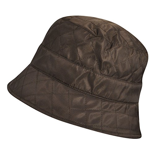 (Betmar Women Quilted Bucket Hat Chocolate One Size Fits Most)