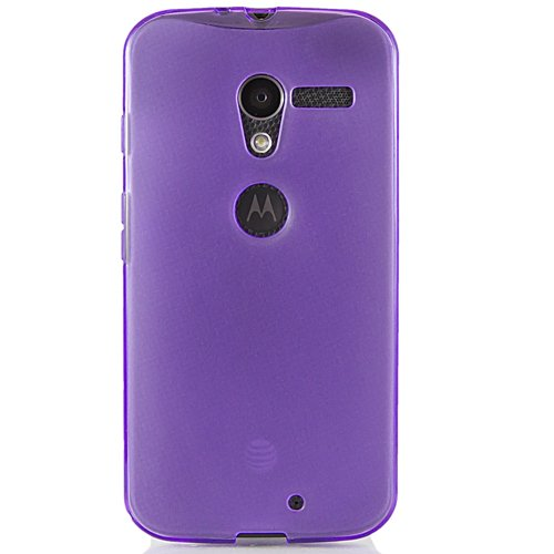 Hyperion Motorola Moto X Phone Matte TPU Case and Screen Protector (Compatible with Sprint Motorola Moto X Phone / XFON XT1056, and AT&T Motorola X Phone / XFON XT1058, and Verizon Wireless Moto X Phone) **Hyperion Retail Packaging** [2 Year Warranty] (Purple)
