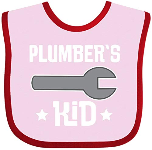 (Inktastic - Plumbers Kid Baby Bib Pink and Red 3491f)