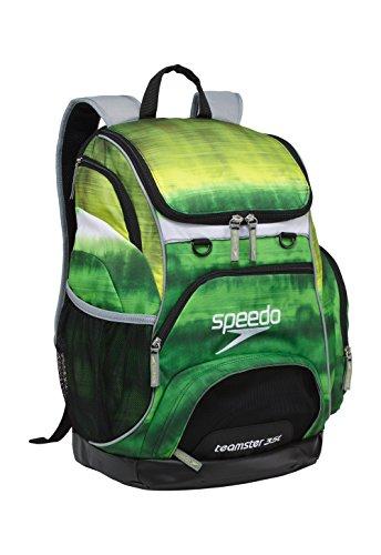 Green Tie Dye (Speedo Large Teamster Backpack, Tie Dye Green, 35 L)