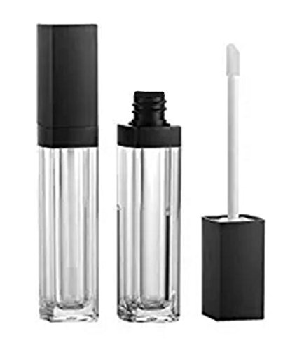 2PCS 7ml Clear With Black Cap Plastic Empty Lip Gloss Tube DIY Makeup Glazing Lip Balm Container Hollow Tubes Bottle (Gloss 7ml Lipstick Lip)