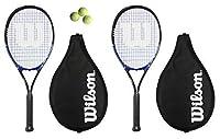 2x Wilson Grand Slam XL Blau Tennisschläger + 3Tennisbälle, 90L3