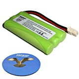 HQRP Phone Battery compatible with VTech BT5632 / BT-5632, BT5872 / BT-5872, 89-1333-01-00 Replacement plus HQRP Coaster