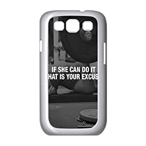 Samsung Galaxy S3 9300 Cell Phone Case White If She Can Do It S6C3SI
