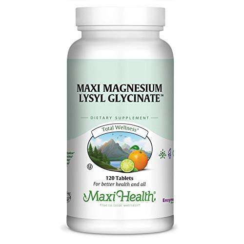 Kosher Magnesium - Kosher Magnesium Glycinate with Lysl by Maxi Health | For Sensitive Stomachs | Better Absorption and Less Laxative Effect | Gluten-Free, Quality Ingredients for BETTER OVERALL HEALTH - Tablets