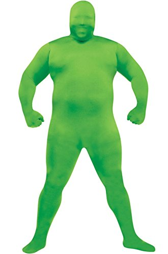Mememall Fashion Skin Suit Plus Size Halloween Costume (Green) (Beetlejuice Plus Size Adult Mens Costume)