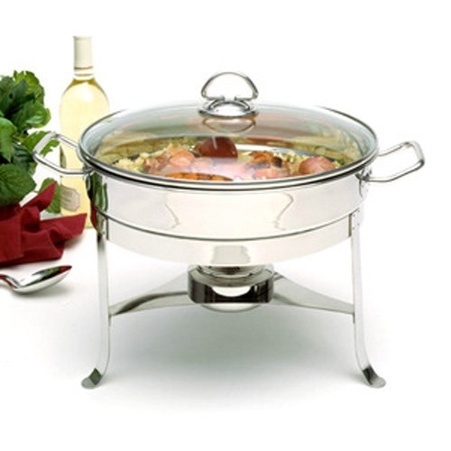 Norpro 6 Quart Stainless Steel Chafing Dish with Lid