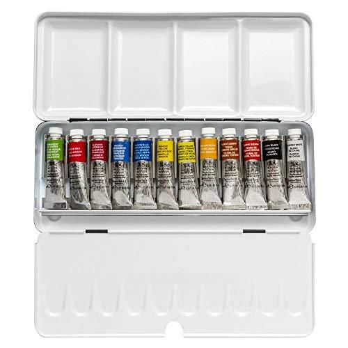 Winsor & Newton Professional Water Colour Lightweight Sketchers' Box, Twelve 5ml Tubes