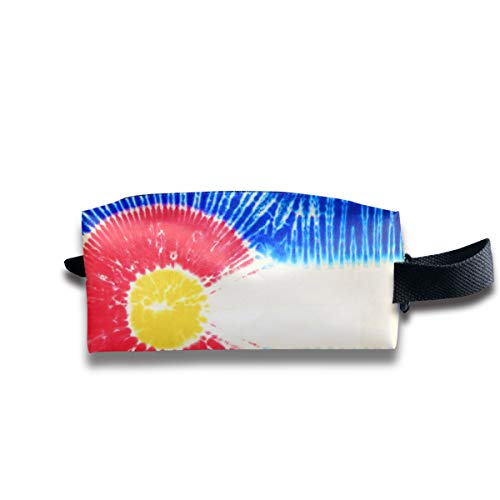 Dye Colorado Travel&Home&Office Portable Make-up Receive Bag Hand Cosmetic Bag with Hanging