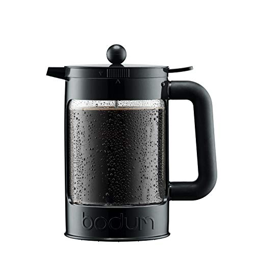 Bodum Bean Cold Brew Coffee Maker, Press, Plastic, 1.5 Liter, 51 Ounce, Black (Cold Brew Coffee Without A French Press)
