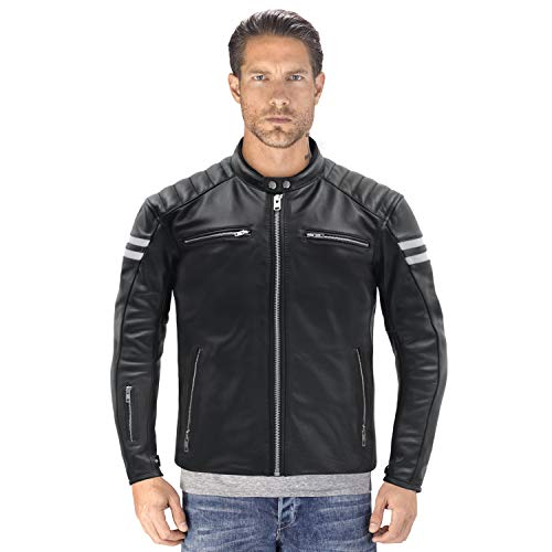 Viking Cycle Bloodaxe Premium Grade Cowhide Leather Motorcycle Jacket for ()