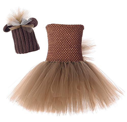 Tutu Dreams Baby Donkey Horse Outfit Costume Little Girls Knit Hat Easter Halloween Dress Up (Little Horse, Small)
