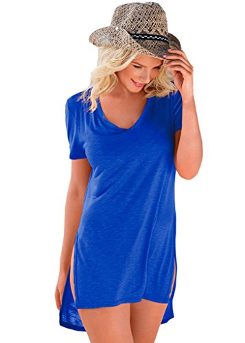 EVALESS Womens Casual sleeve High low product image
