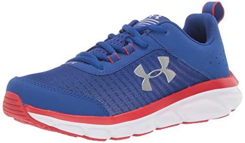 Under Armour Kids' Grade School Assert 8 Sneaker, Royal (401)/Red, 6.5 ()