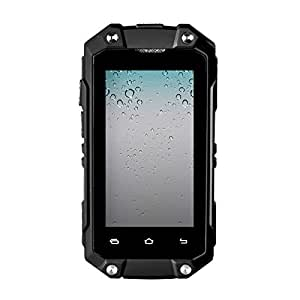 Generic J5+ Triple Proofing Phone, 1GB+8GB, IP65 Waterproof Dustproof Shockproof, Android 5.1 MTK6580 Quad Core, Network: 3G, Dual SIM, OTG, GPS, FM(Black)