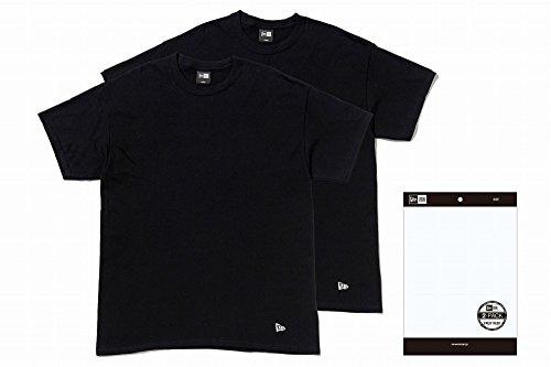 下手栄光大洪水NEW ERA(ニューエラ) ニューエラ 2枚入り Tシャツ 2PACK Tee  ブラック 11229178 2パック NEWERA Tシャツ S