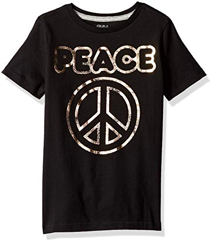 Gymboree Boys' Big Short Sleeve Crewneck Graphic Tee, Peace Sign X-Large