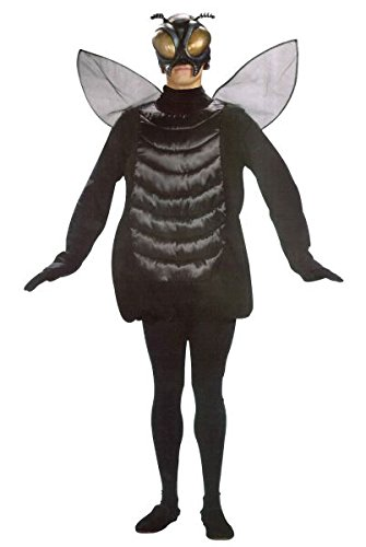 Fly Costumes (Adults Fly Tunic Costume With Wings)
