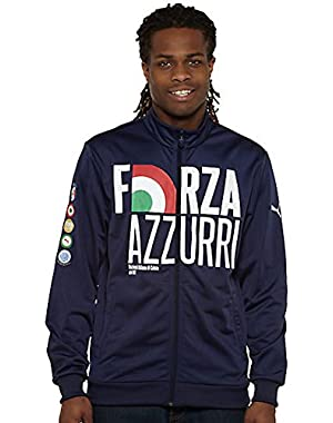 FIGC Italia Track Jacket (Small-Navy)