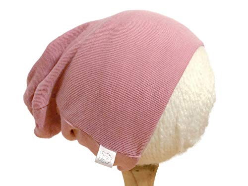 Pure Organic Merino Wool Knit Hat or Beanie Cap M 2T-4 yrs Pink