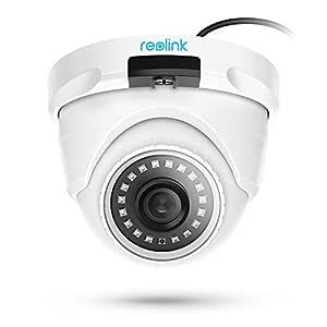 Reolink Cámara Seguridad PoE Exterior, 5MP HD Cámara IP Vigilancia Impermeable Audio IR Visión Nocturna Ranura para Tarjeta SD Incorporada para Hogar ...
