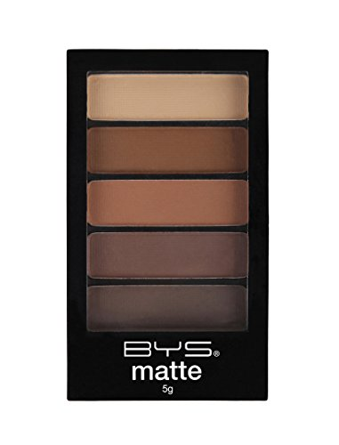 BYS 5 Shades Eyeshadow Compact Eye Makeup Palette with Appli