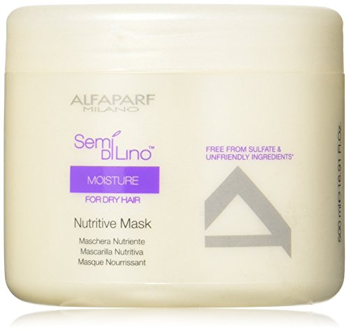 AlfaParf Semi Di Lino Moisture Nutritive Mask for Dry Hair, 16.9 Ounce