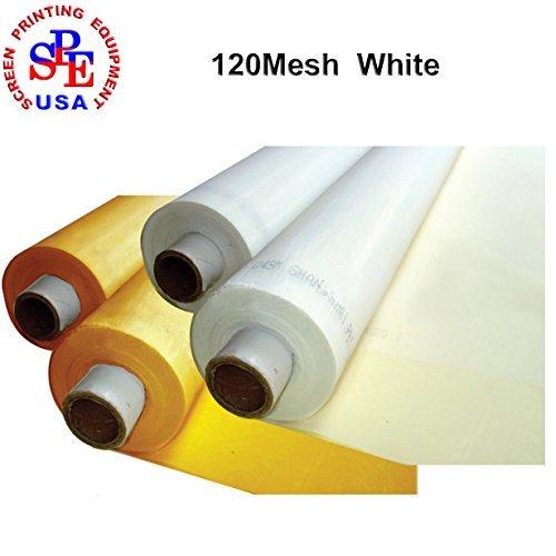 1 Yard 120 Mesh 50Inches Width Silk Screen Fabric (120Mesh (48T) White)