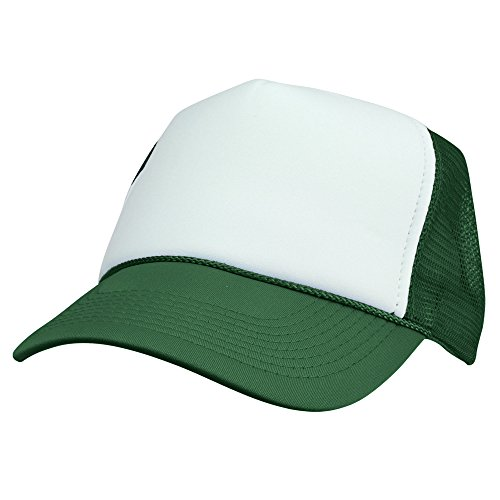 - DALIX Blank Hat Two Tone Summer Mesh Cap in Green and White Trucker Hat