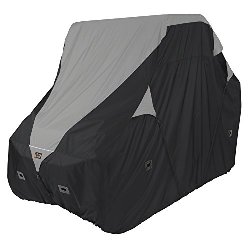 Classic Accessories 18-066-063801-00 Black/Grey QuadGear UTV Deluxe Storage Cover (For Crew Cab UTVs Up To 150