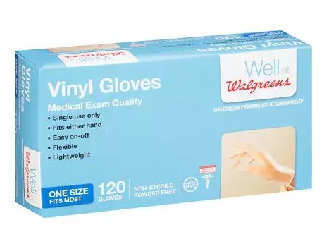 Walgreens Vinyl Gloves Medical Exam Quality Fits Most 120.0each, 2PK by Walgreens (Image #1)