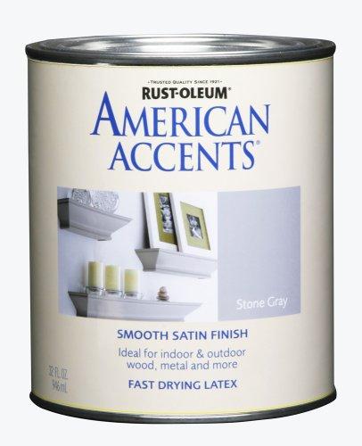 Rust-Oleum 7926502 American Accents, Satin Stone Gray, 1-Quart Rust Oleum Stone Finish