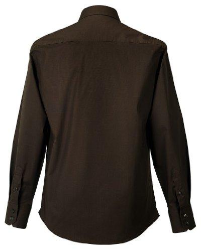 Russell Herren pflegeleichtes körperbetontes Langarm Stretch-Hemd R-946M-0 Chocolate XL
