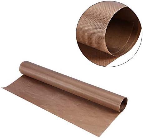 XZJWL 1PCS 60 * 40センチメートル再利用可能なベーキングマット、屋外BBQのための耐熱テフロンシート、耐熱パッド、ノンスティック、 (Color : Brown)