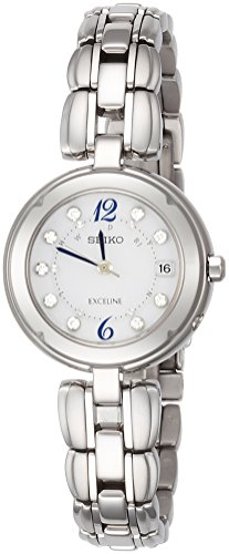 SEIKO EXCELINE titanium Solar Radio SWCW121 Ladies(Japan Import-No Warranty)