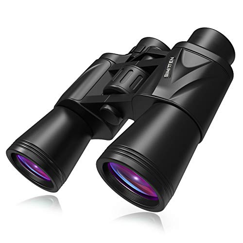 Simitten 20x50 HD Durable Binocular for Adults,22mm Large Eyepiece BAK4 Prism FMC Lens Binocular Telescope for Bird Watching,Outdoor,Travel, Concerts,Stargazing and Sport Games