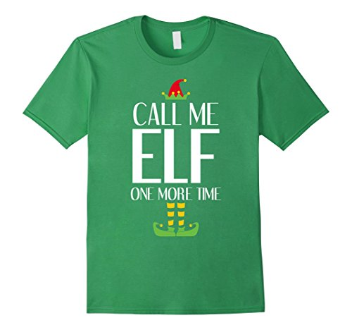 [Men's Call Me Elf T-Shirt Funny Movie Saying Christmas Costume 3XL Grass] (Movie Costume Ideas For Men)