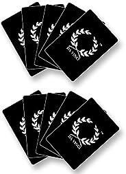 10 Da Vinci Poker Size Cut Cards, 100% Plastic, Made in Italy