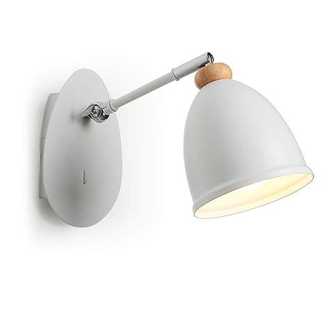 Luz de pared LED Lampara de pared con interruptor Simple y lámpara de pared de moda Cuerpo de lámpara flexible para sala de estar Dormitorio Estudio u ...